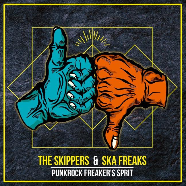 "THE SKIPPERS x SKA FREAKS のスプリットアルバム"" PUNKROCK FREAKER'S SPIRIT"" がPINE'S APOLLO から発売決定!"